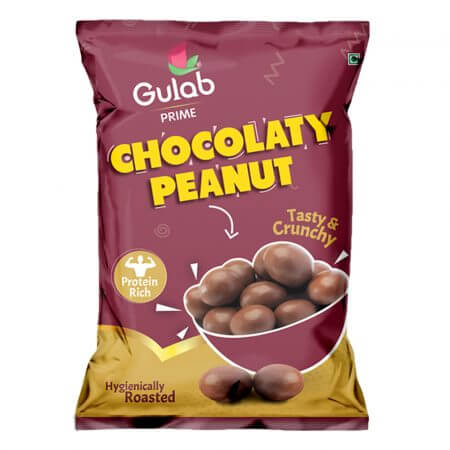 Gulab Prime Sweet Chocolaty Peanuts – 40 Gm Pouch-0