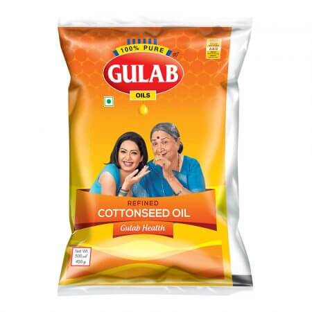 Gulab Health Refined Cottonseed Oil 500 Ml Pouch-0