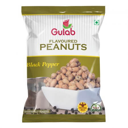 Gulab Flavoured Black Pepper Peanuts-35Gm Pouch-0
