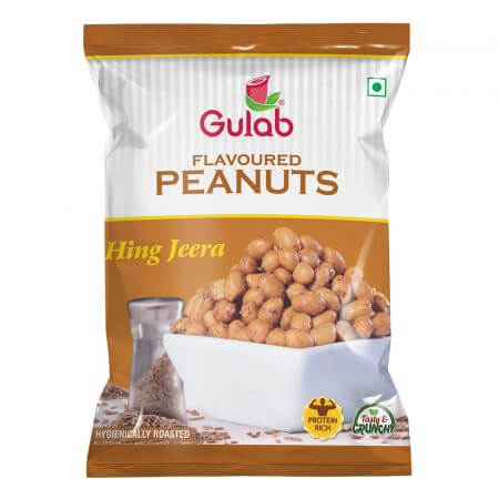 Gulab Flavoured Hing Jeera Peanuts-35Gm Pouch-0