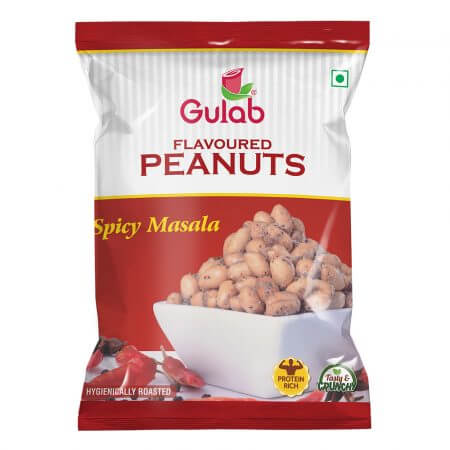 Gulab Flavoured Spicy Masala Peanuts-35Gm Pouch-0