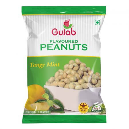 Gulab Flavoured Tengy Mint Peanuts-35Gm Pouch-0
