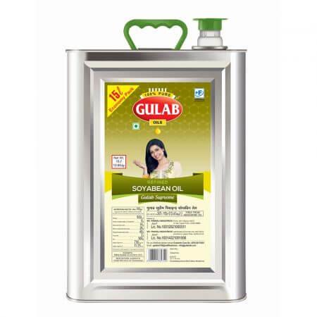 Gulab Supreme Refined Soyabean 15 Ltr Tin-0