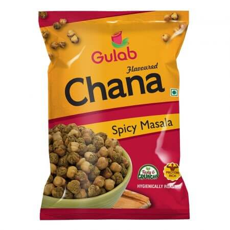 Gulab Flavoured Spicy Masala Chana - 35 Gm Pouch [Roasted Chickpeas]-0