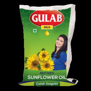 Gulab Sungold Refined Sunflower Oil 1 Ltr Pouch